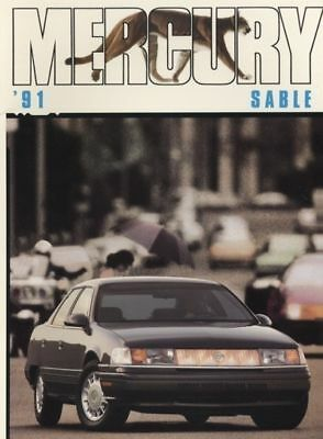 1991 Mercury Grand Marquis Sedan /& Wagon Dealer Sales Brochure Mint!