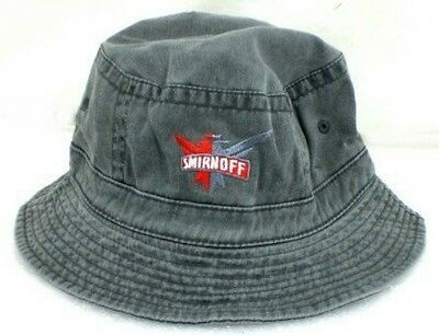 SMIRNOFF Embroidered Gray Floppy Hat  Size M/L   New!