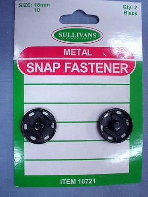 18mm Black Snap Fasteners