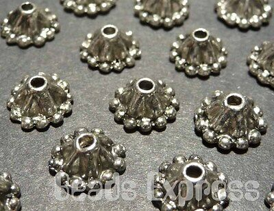 30pc 8mm Tibetan Silver Antique Dome Bead Caps Cap Jewelry Findings (JA027)