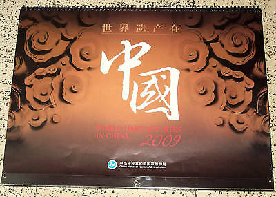 WORLD HERITAGE SITES IN CHINA- NM 2009 15x21 Calendar