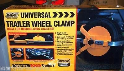 Maypole Trailer Wheel Clamp. Suits Wheels 8 To 10 Inch