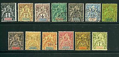 """Guadeloupe  : N° 27/39 """" 13 Timbres """" N/O  A  Voir ."""