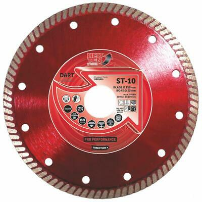 "FORCE-X 200mm 8"" Diamond Super Fine Turbo Rim Porcelain Tile Blade / Disc,STT200"