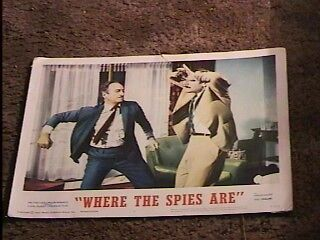 Where The Spies Are 1966 Lobby Card #5 Espionage