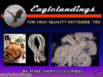 """100 7"""" ROTISSERIE CHICKEN POULTRY ELASTIC TIES - STRING ~ Free 5-3"""" & 5-5"""""""