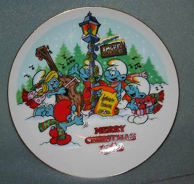 Smurfs Merry Christmas Carolers 1982 Collectible Plate