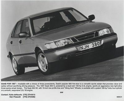 1997 Saab 900 Press Photo Kit and Sales Release