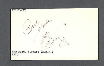 Pat Riley signed 1970 Government Postcard