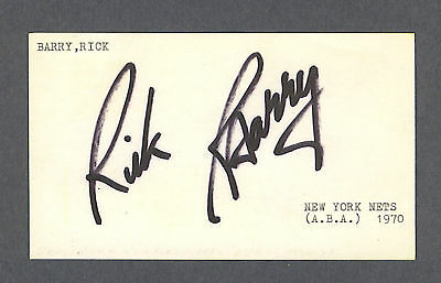 Rick Barry signed 1970 Government Postcard