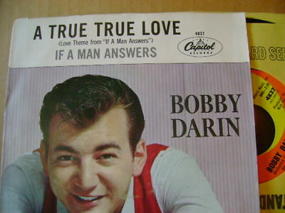 MINT 45 & PS~BOBBY DARIN~IF A MAN ANSWERS/A TRUE~~~HEAR