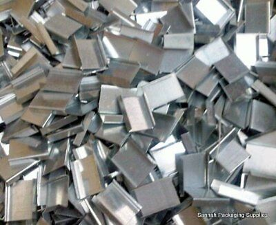 """1,000 - 3/4"""" Open Metal Seals For Steel Strapping"""
