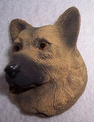 GERMAN SHEPHERD Black Tan Painted Stone Resin MAGNET