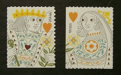 4405a MNH 44c King & Queen of Hearts / singles - (5409v)