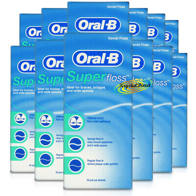 12x Oral B Superfloss Super Dental Floss Braces Bridges