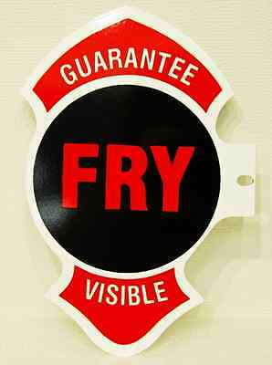 Fry Visible Gas Pump Painted Metal Sign Cabin Lodge Man Cave Home Garage Decor
