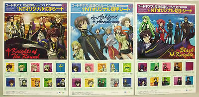 Code Geass R2 Jpn stamp sheet set of 3 Ltd ED CLAMP