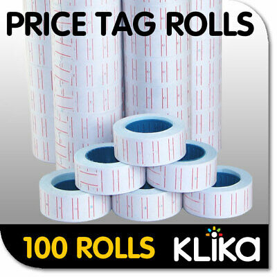 100 x PRICING PRICE TAG TAGGING GUN LABEL ROLLS BULK