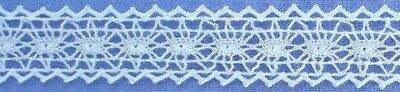 15mm Ivory Cotton Cluny Lace Edging