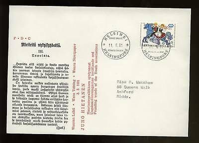 Finland 1981 Youth Associations FDC