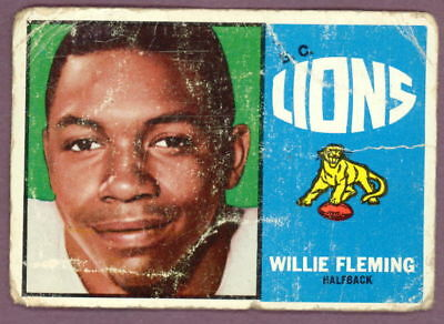 1964 TOPPS OPC CFL FOOTBALL 1 WILLIE FLEMING B C LIONS