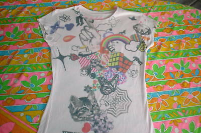 ROCK N ROLL t SHIRT PSYCHEDELIC PRINT RETRO 60S STYLE