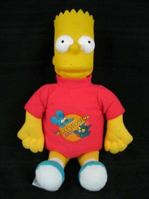 80) Stoff Vinyl Puppe Figur Bart Simpson The Simpsons  34cm