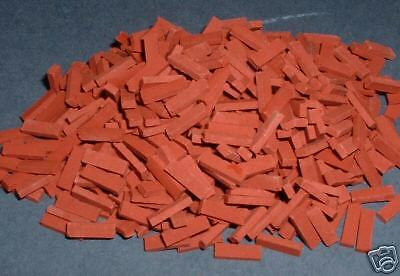 1/24th Miniature Red  Brick Slips 500 Pack only £8.99!!