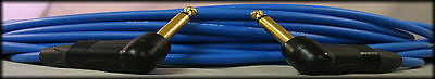 "UpScale Canare GS-6 Guitar Bass Cable  1/4"" TSRA - Blue 3FT"