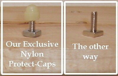 Cabinet Knob Hardware 24 Nylon Protect-to-Caps finish off  bolts in cabinet
