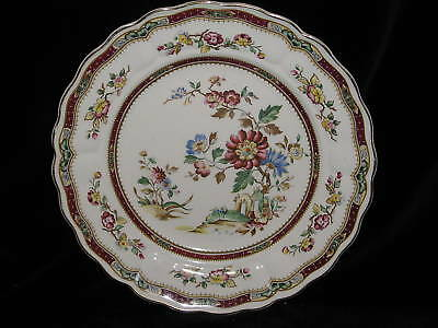 GRINDLEY - Connaught - Maroon - DINNER PLATE crazing