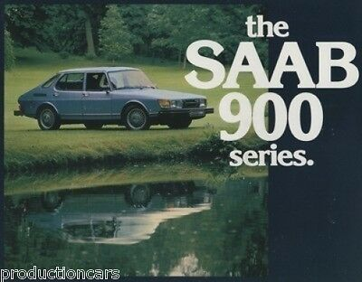 1979 Saab 900  Sales Brochure Book  Turbo