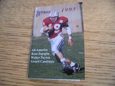 1995 Univ of Massachusetts Football Pocket Schedule