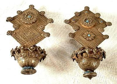 Antique Central Asian Tribal Islamic Silver Earrings