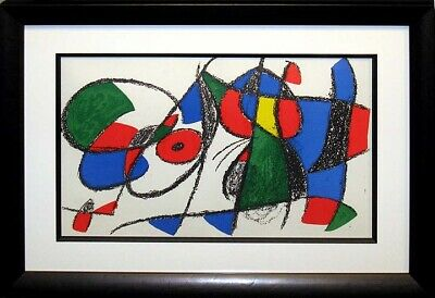Joan Miro II #VIII 1972 Original Art Lithograph Custom Framed Artowrk MAKE OFFER