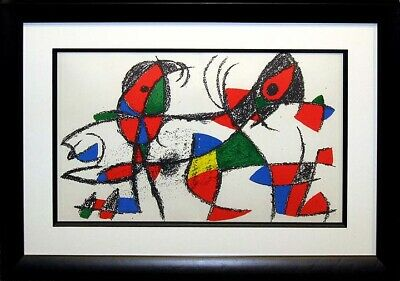 "Miro ""Lithograph II No.X"" 1975 Original Lithograph Custom Frame Art MAKE OFFER"