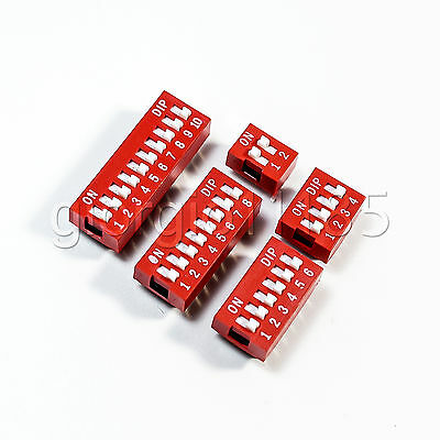 Lot of 50 X 2, 4, 6, 8,10 Position DIP Switch Assorted