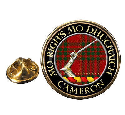 Cameron Ancient Clan Crest Lapel Pin Badge Gift