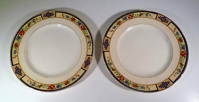 TWO W. H. GRINDLEY IVORY SALAD PLATES - MIGNON