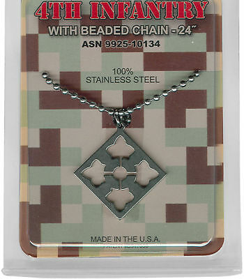 Army Military Issue 4Th Infantry Usa Made Jewelry