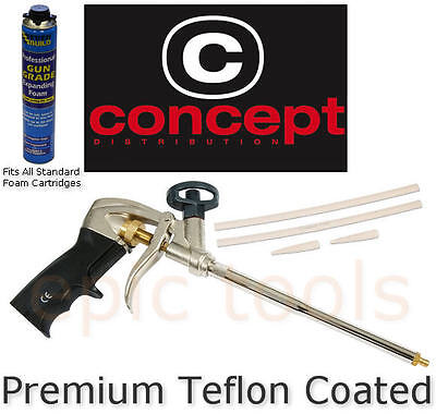 CONCEPT Heavy Duty Teflon Coated Expanding Grade Foam Spurt Gun Applicator
