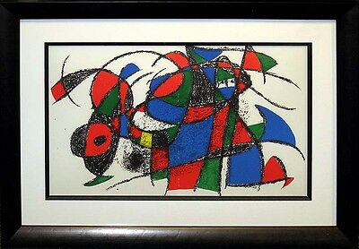 Joan Miro II No.IV 1975 Original Lithograph Custom Gallery Frame SUBMIT AN OFFER