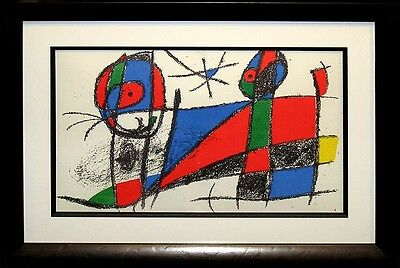 Joan Miro Vol II VI 1975 Original Lithograph Custom Gallery Frame SUBMIT OFFER