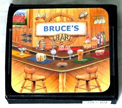 Bruce's Bar Name Set Of 6 Cork Backed Coasters