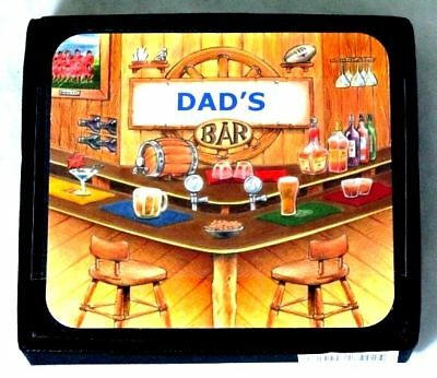 Dad's Bar Father Name Set Of 6 Cork Backed Coasters