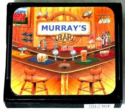 Murray Bar Name Set Of 6 Cork Backed Coasters