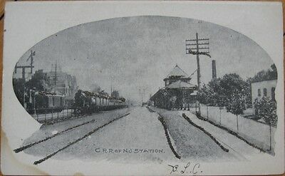 1905 Postcard - Central Railroad RR of New Jersey Depot