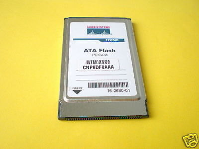Original Cisco 128MB PCMCIA ATA Flash MEM-I/O-FLD128M für 7200 I/O Controler