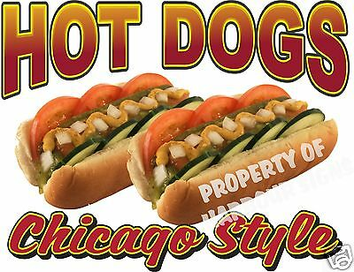 """Hot Dogs Chicago Style Concession Food Vendor Decal 14"""""""