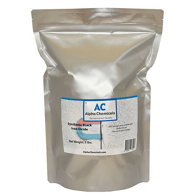 5 lb Synthetic Black Iron Oxide  - Fe3O4 - <1 micron particle size